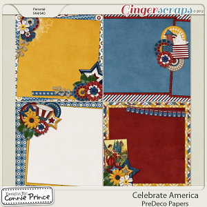 Retiring Soon - Celebrate America - PreDeco Papers