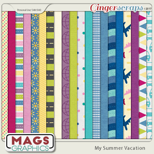 My Summer Vacation PAPER PACK by MagsGraphics