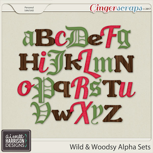 Wild and Woodsy Alpha Sets by Aimee Harrison