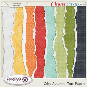 Crisp Autumn Torn Papers by Aprilisa Designs