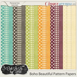 Boho Beautiful Pattern Papers