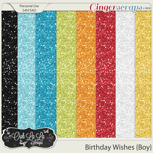 Birthday Wishes Boy Glitter Sheets