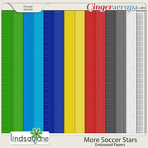 More Soccer Stars Embossed Papers by Lindsay Jane