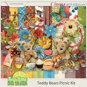 Teddy Bears Picnic Kit by Key Lime Digi Design