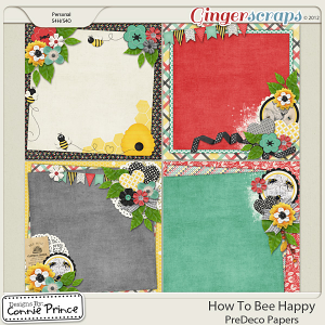 How To Bee Happy - PreDeco Papers
