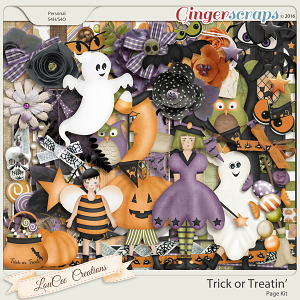 Trick or Treatin Page Kit