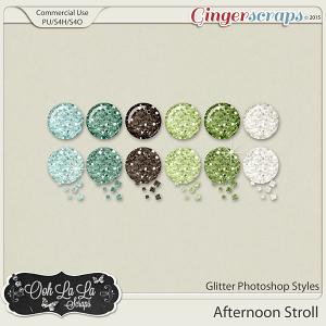 Afternoon Stroll Glitter Photoshop Styles