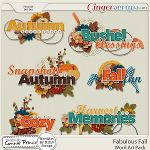 Fabulous Fall - Word Art
