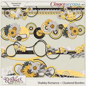 Shabby Romance Clustered Borders