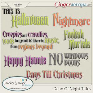 Dead Of Night Titles