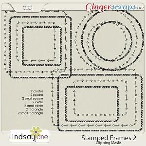 Stamped Frames 2 by Lindsay Jane