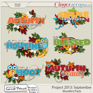 Project 2013:  September - WordArt Pack