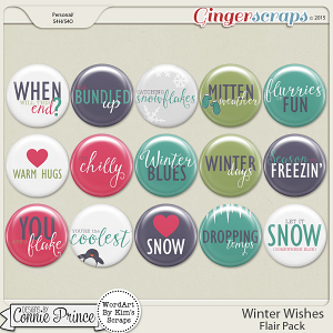 Winter Wishes - Flair Pack
