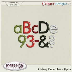 A Merry December - Alpha by Aprilisa Designs