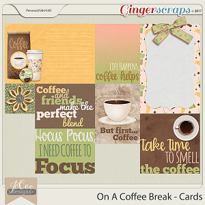 On A Coffee Break Cards
