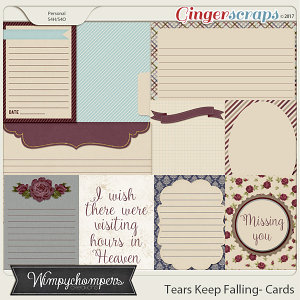 Tears Keep Falling- Cards