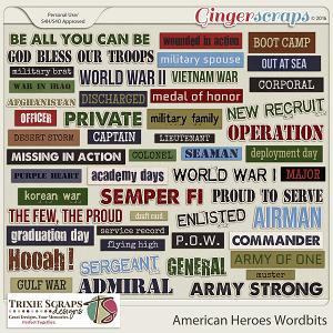 American Heroes Wordbits by Trixie Scraps Designs