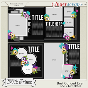 Best Concert Ever - 12x12 Templates (CU Ok)