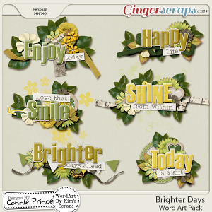 Brighter Days - WordArt