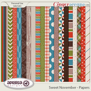 Sweet November - Papers by Aprilisa Designs