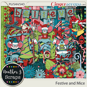 Festive and Mice KIT by Heather Z Scraps