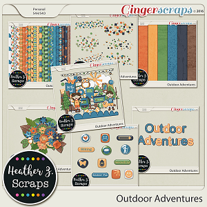 Outdoor Adventures COLLECTION by Heather Z Scraps