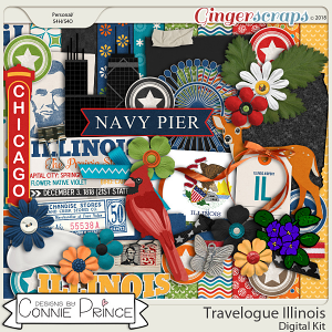 Travelogue Illinois - Kit by Connie Prince