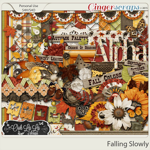 Falling Slowly Digital Scrapbooking Kit