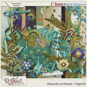 Peacocks on Parade Page Kit