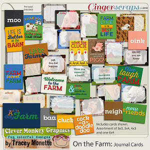 On the Farm Journal Cards by Clever Monkey Graphics