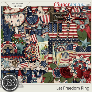 Let Freedom Ring Digital Scrapbooking Kit