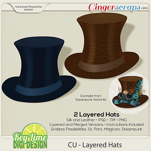 CU Layered Hat Templates