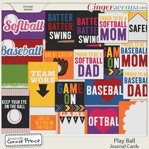 Play Ball - Journal Cards