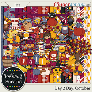 Day 2 Day: October KIT by Heather Z Scraps
