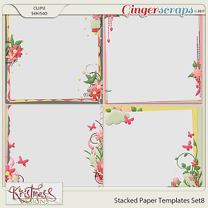 Stacked Paper Templates Set 8