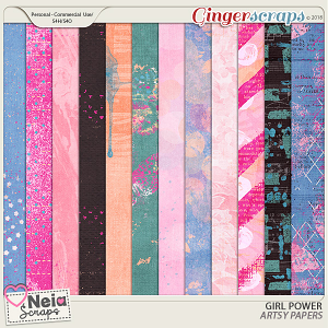 Girl Power - Artsy Papers - by Neia Scraps
