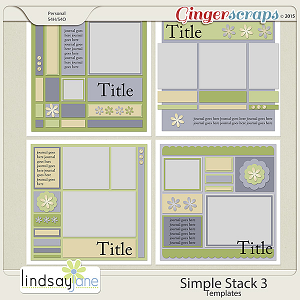 Simple Stack 3 Templates by Lindsay Jane