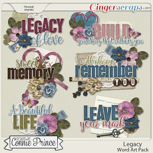 Legacy - Word Art Pack