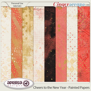 Cheers to the New Year - Painted Papers