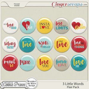 3 Little Words - Flair Pack