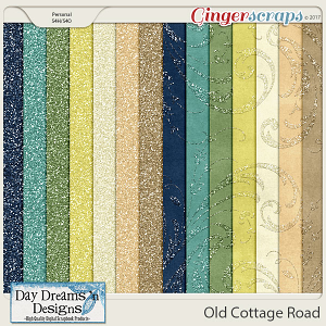 Old Cottage Road {Glitter Papers} by Day Dreams 'n Designs
