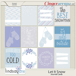 Let It Snow Journal Cards by Lindsay Jane