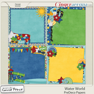 Retiring Soon - Water World -  PreDeco Papers