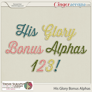 His Glory Bonus Alphas by Trixie Scraps Designs
