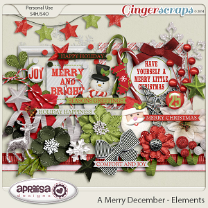 A Merry December - Elements by Aprilisa Designs