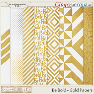 Be Bold Gold Paper Pack