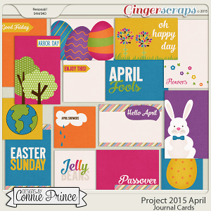 Project 2015 April - Journal Cards