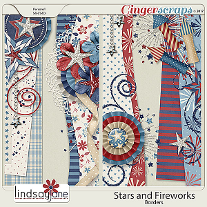 Stars and Fireworks Borders by Lindsay Jane
