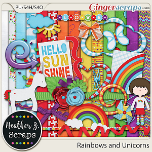 Rainbows and Unicorns KIT by Heather Z Scraps
