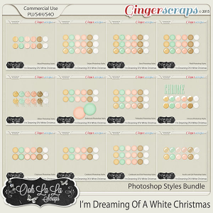 I'm Dreaming Of A White Christmas CU Photoshop Styles Bundle